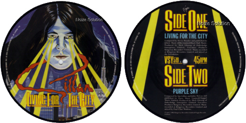 Ian Gillan (Deep Purple) - Living for the City 7 inch vinyl Picture Disc record.