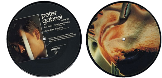 PETER GABRIEL - Shock The Monkey, 7 inch vinyl Picture Disc Record.