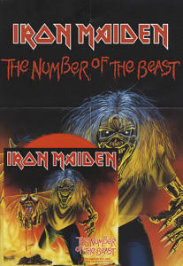 Iron Maiden - The Number Of The Beast, 7 inch red vinyl single with giant poster calender.