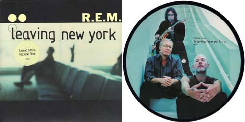 R.E.M - Leaving New York 7 inch vinyl Picture Disc Record Sleeve.