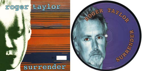 Roger Taylor - Surrender, 7 inch vinyl picture disc record in picture sleeve.