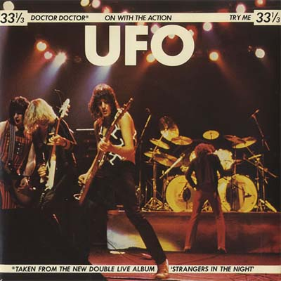 UFO - Doctor Doctor 7 inch clear vinyl record in picture sleeve.