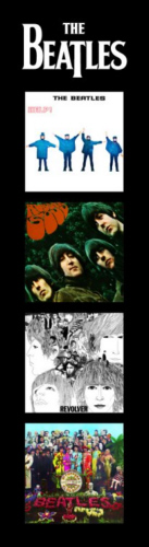 The Beatles Help, Rubber Soul, Revolver, Sgt Pepper - Bookmark.
