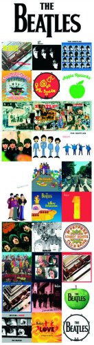 The Beatles Albums Discography officially licensed bookmark.