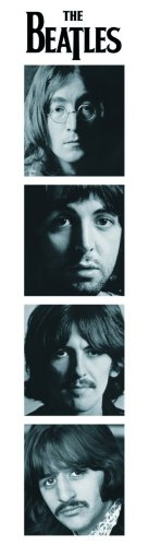 The Beatles Faces Portraits officially licensed bookmark.
