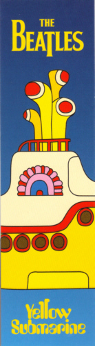 The Beatles Yellow Submarine officially licensed bookmark.