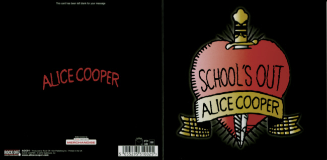Alice Cooper - School's Out officially licensed Greeting Card.
