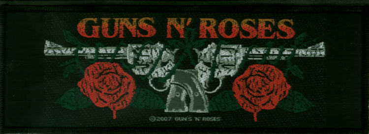 Guns n Roses - Guns Logo officially licensed Woven Sew on Patch.