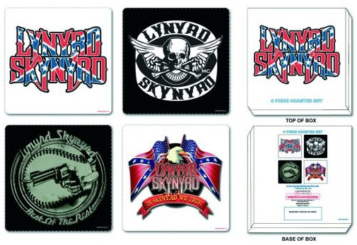 Lynyrd Skynyrd - Drinks Coasters officially licensed Gift Box.