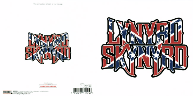 Lynyrd Skynyrd - Confederate Logo officially licensed Greeting Card.