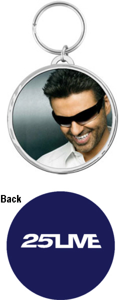 George Michael 25 Live Official Tour KeyRing.