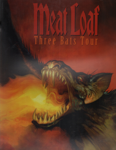 Meat Loaf - Three 3 Bats 2007 concert tour programme.
