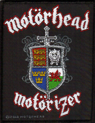 Motorhead - Motorizer officially licensed Woven Sew on Patch.