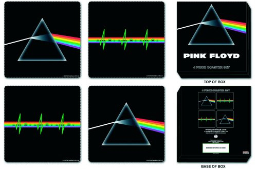 Pink Floyd - dark Side Of The Moon Drinks Coasters officially licensed Gift Box.