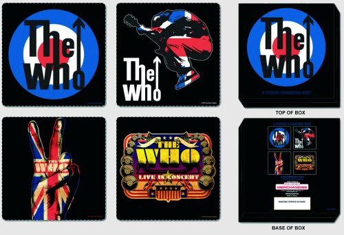 The Who - Mod Target and Logos Drinks Coasters officially licensed Gift Box.