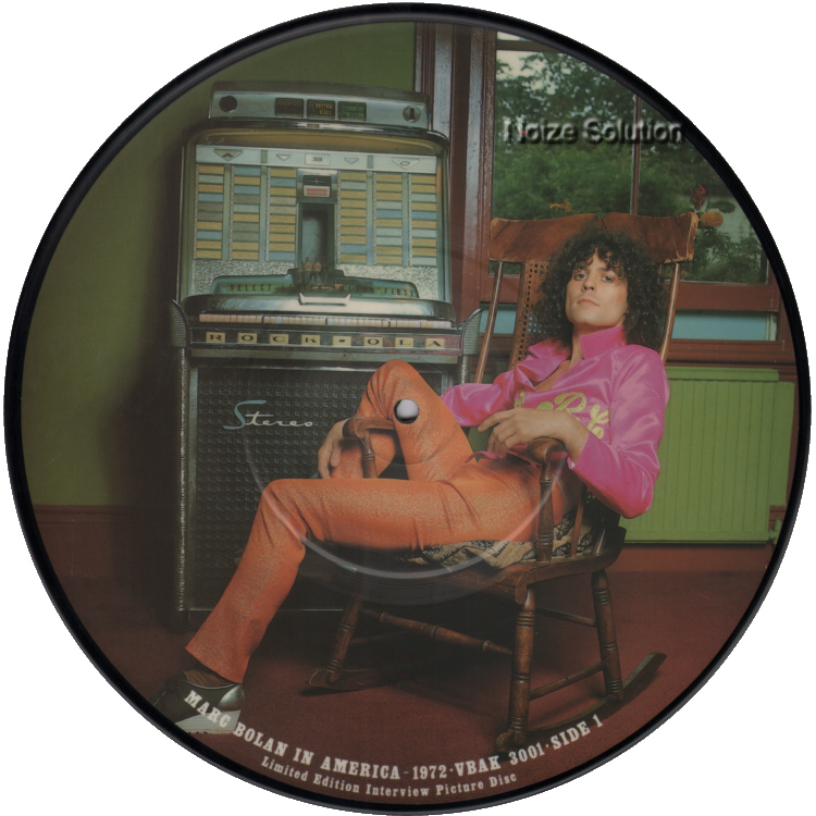 Marc Bolan In America 1972 Interview inch vinyl Picture Disc Record Side 1 MarcBolan.