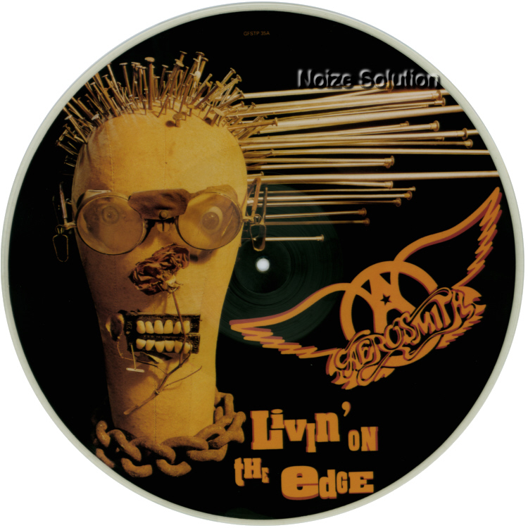 Aerosmith - Livin On The Edge, 12 inch vinyl Picture Disc record Side 1.