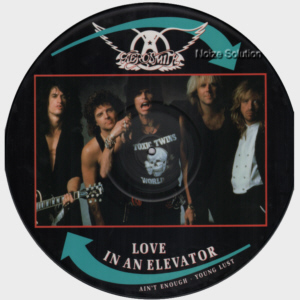 Aerosmith - Love In An Elevator, 12 inch vinyl Picture Disc record side 1.