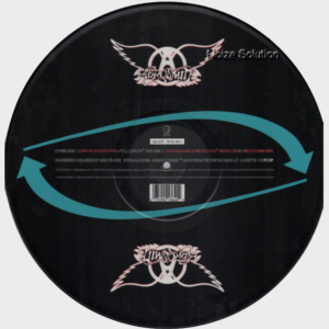 Aerosmith - Love In An Elevator, 12 inch vinyl Picture Disc record side 2.