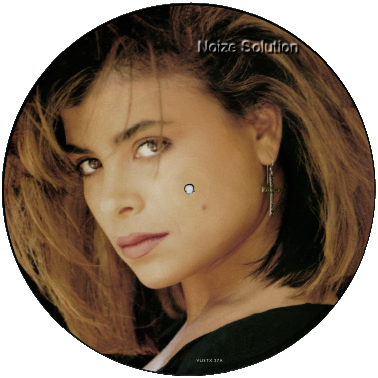 Paula Abdul - Cold Hearted, 12 inch vinyl Picture Disc record Side 1.