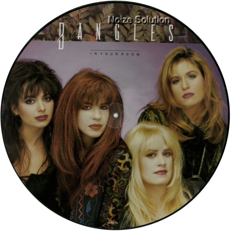 Bangles - In Your Room, 12 inch vinyl Picture Disc record side 1.