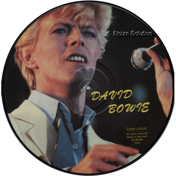 David Bowie - 12 inch Vinyl interview picture disc side 1.