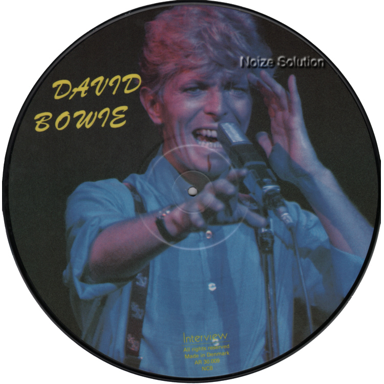 David Bowie - 12 inch Vinyl interview picture disc side 2.