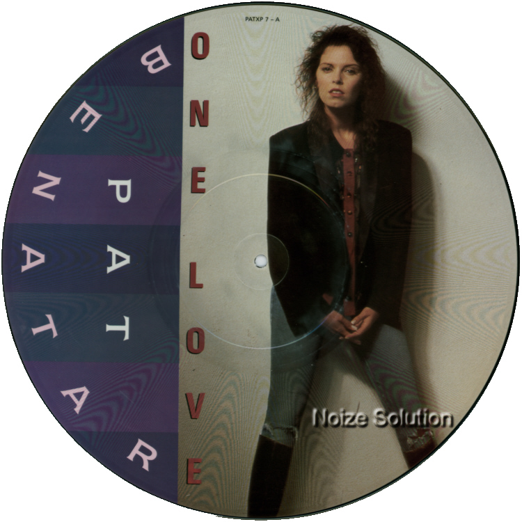 Pat Benatar One Love 12 inch vinyl Picture Disc Record Side 1 PatBenatar.