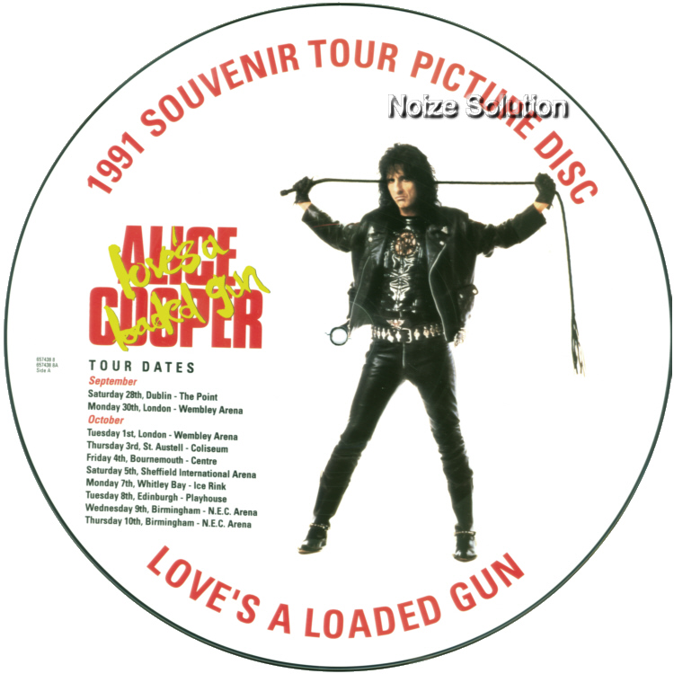 Alice Cooper Love's A Loaded Gun 12 inch vinyl Picture Disc Record Side 1 AliceCooper.