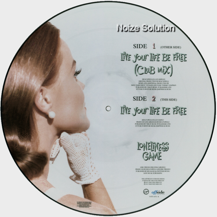Belinda Carlisle - Live Your Life Be Free vinyl 12 inch Picture Disc Record Side 2.