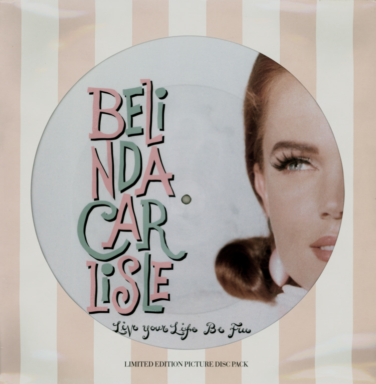 Belinda Carlisle - Live Your Life Be Free 12 inch Die-Cut Sleeve Front.