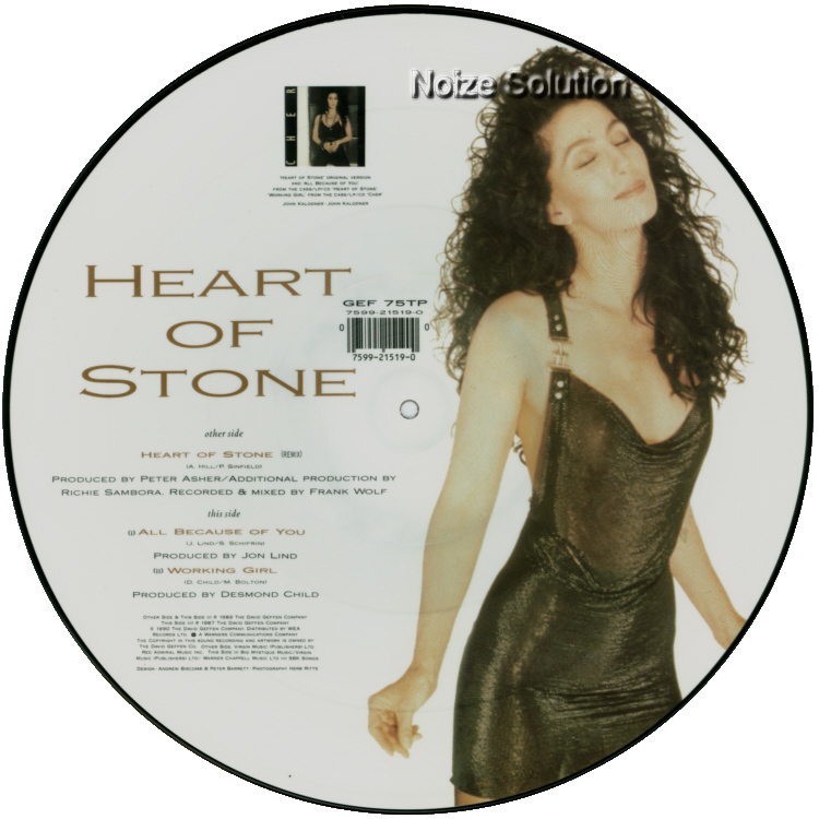 Cher Heart Of Stone 12 INCH VINYL PICTURE DISC Record Side 2.
