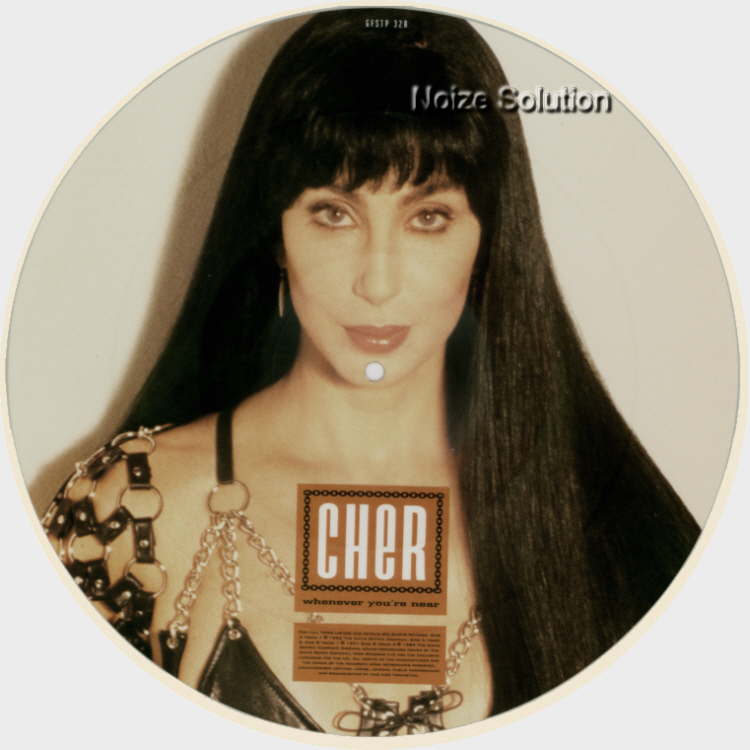 Cher Whenever You're Near 12 INCH VINYL PICTURE DISC Record Side 1.