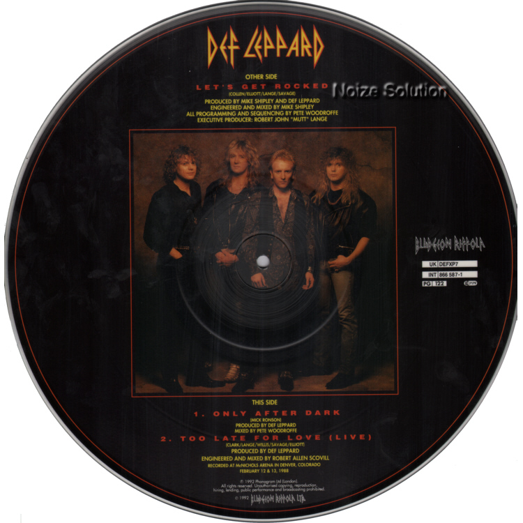 Def Leppard - Let's Get Rocked vinyl 12 inch Picture Disc Record Side 2.