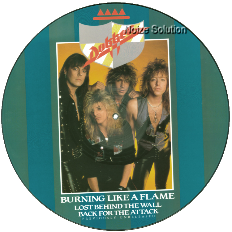 Dokken � Burning Like A Flame, 12 inch vinyl Picture Disc record Side 1.