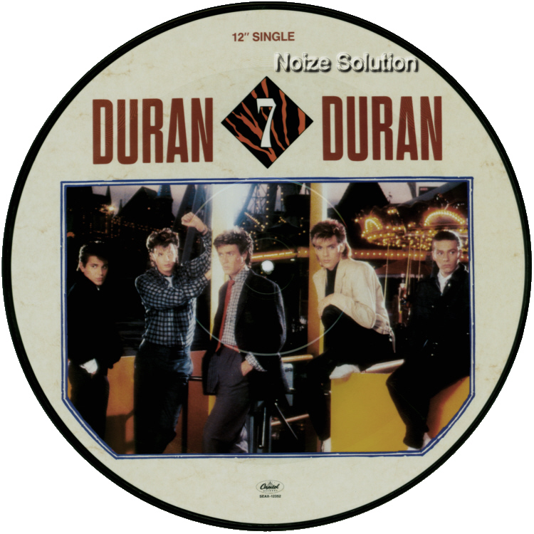Duran Duran The Reflex, 12 inch vinyl Picture Disc Record side 1.