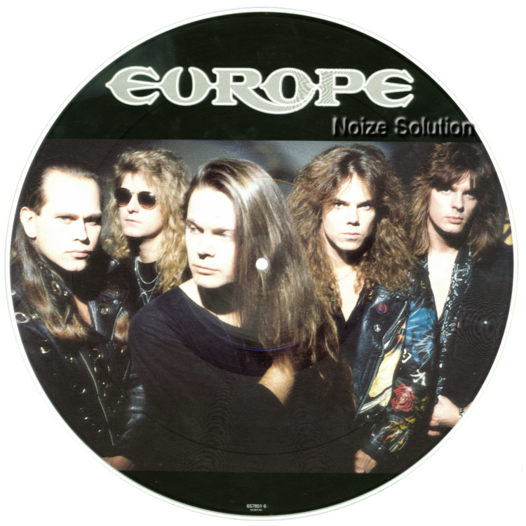 Europe – Halfway To Heaven, 12 inch vinyl Picture Disc record Side 1.