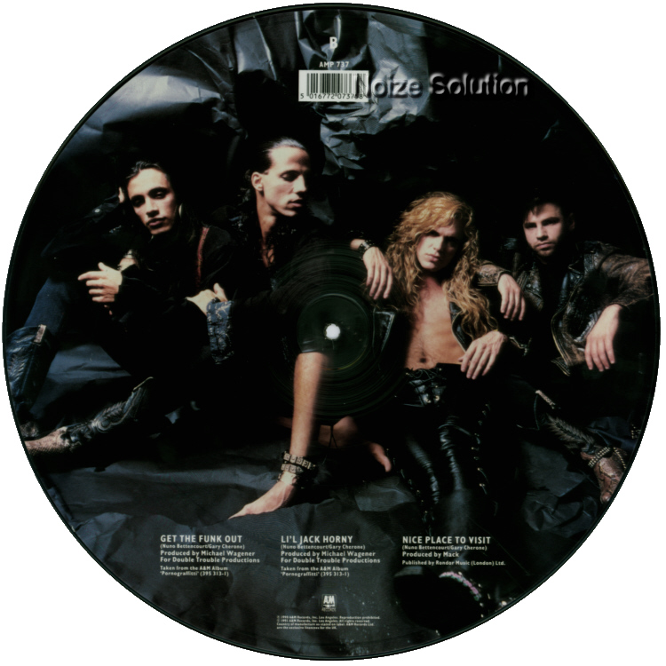 Extreme - Get The Funk Out, 12 inch vinyl Picture Disc Record side 2.