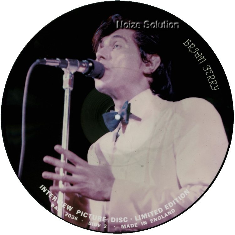 Bryan Ferry - 12 inch Vinyl interview picture disc side 2.