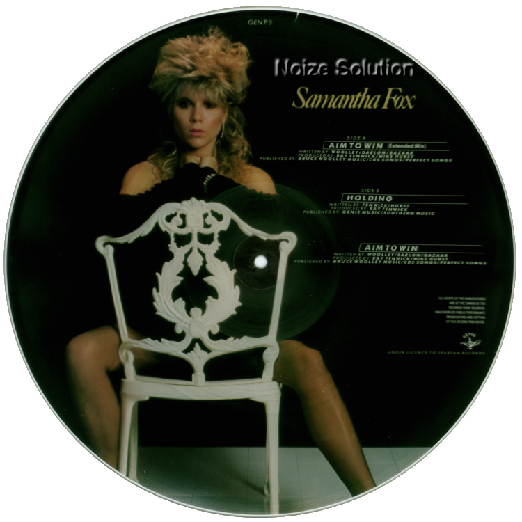 Sam Samantha Fox - Aim To Win, 12 inch vinyl picture disc single side 2.