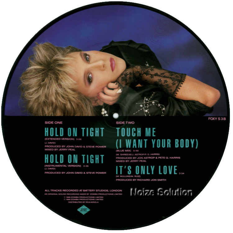 Sam Samantha Fox - Hold On Tight, 12 inch vinyl picture disc single side 2.