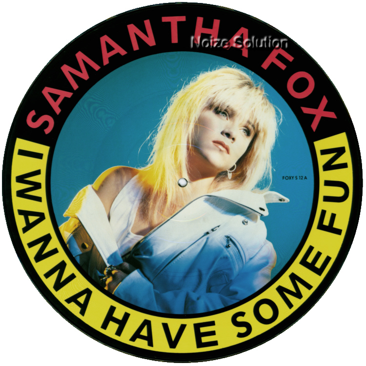 Sam Samantha Fox - I Wanna Have Some Fun, 12 inch vinyl picture disc single side 1.