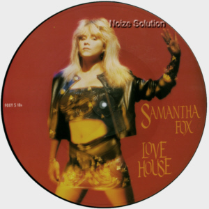 Sam Samantha Fox - Love House I Want Your Body, 12 inch vinyl picture disc single side 1.
