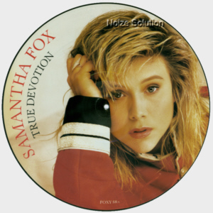 Sam Samantha Fox - True Devotion, 12 inch vinyl picture disc single side 1.