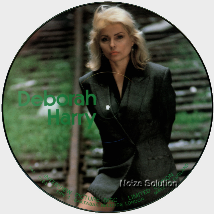 Debbie Harry - Blondie Interview, 12 inch vinyl Picture Disc record side 1.