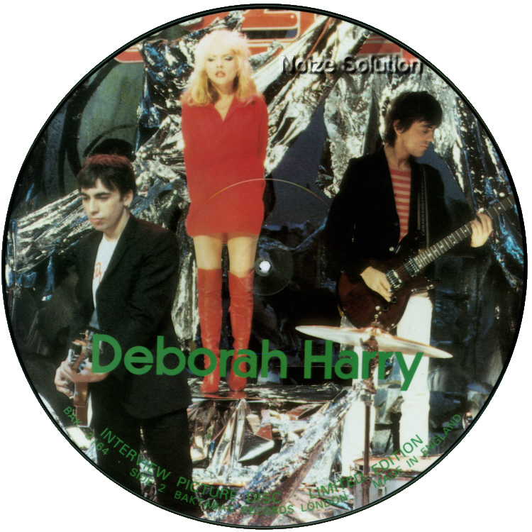 Debbie Harry Interview 12 inch vinyl Picture Disc Record Side 2 DebbieHarry BlondieBlondie.