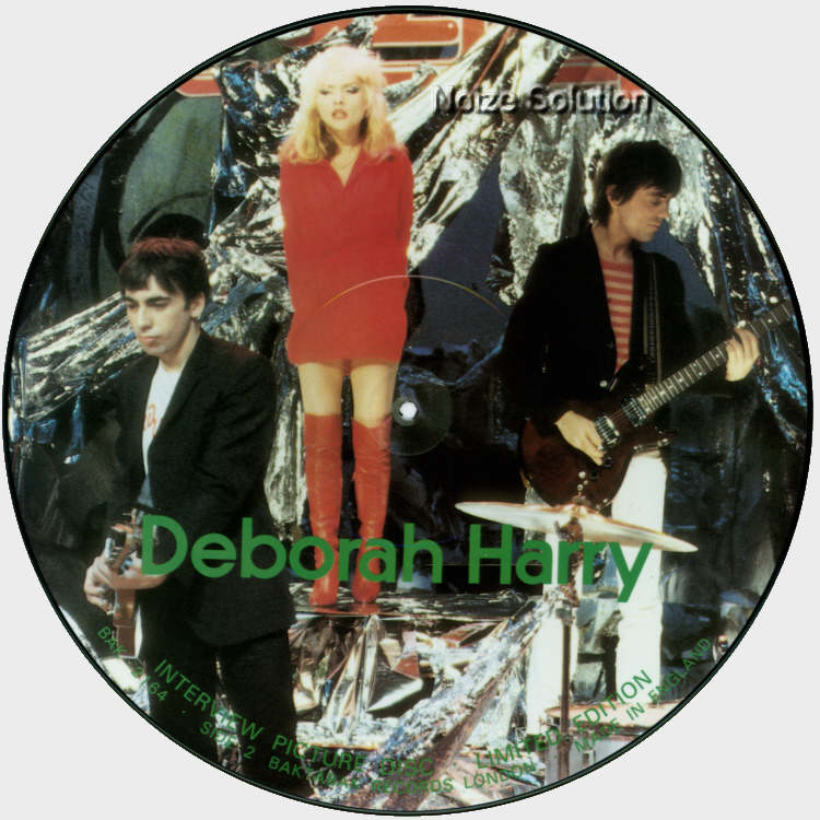 Debbie Harry - Blondie Interview, 12 inch vinyl Picture Disc record side 2.