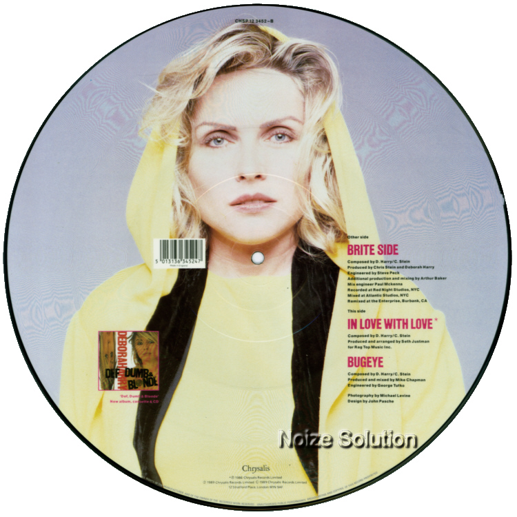 Debbie Harry - Brite Side, 12 inch vinyl Picture Disc record side 2.