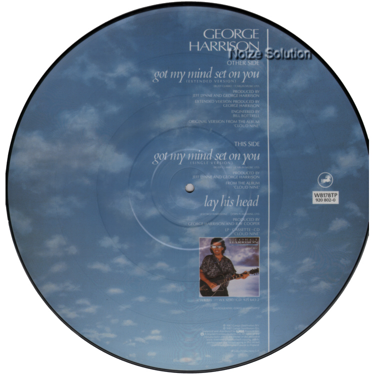 George Harrison - Got My Mind Set On You vinyl 12 inch Picture Disc Record Side 2.