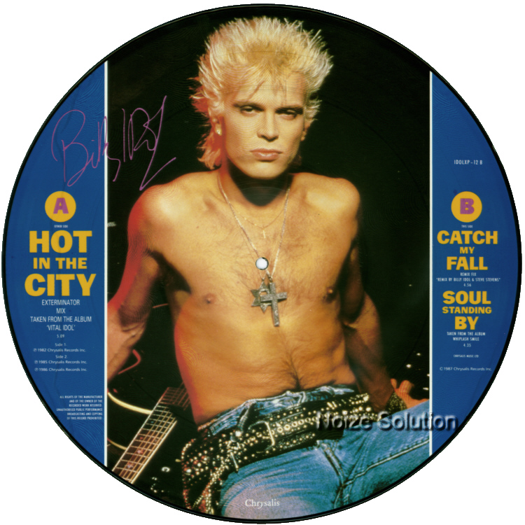 Billy Idol - Hot In The City 12 inch vinyl Picture Disc Record Side 2 BillyIdol.
